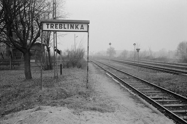 1988, Poland --- The discontinued railroad stop at the village of Treblinka once saw the deportation transports pass through on their way to Treblinka II.jpg